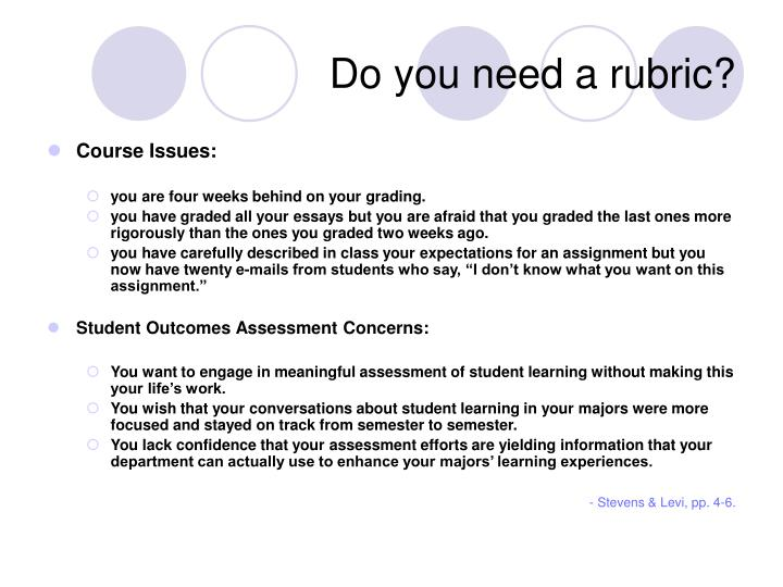Do you need a rubric
