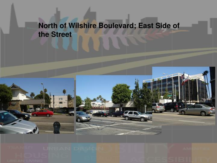 North of Wilshire Boulevard; East Side of the Street