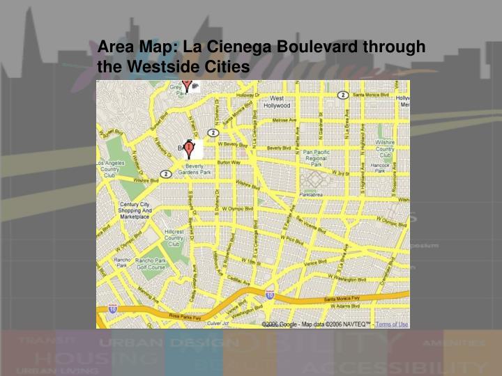 Area Map: La Cienega Boulevard through the Westside Cities