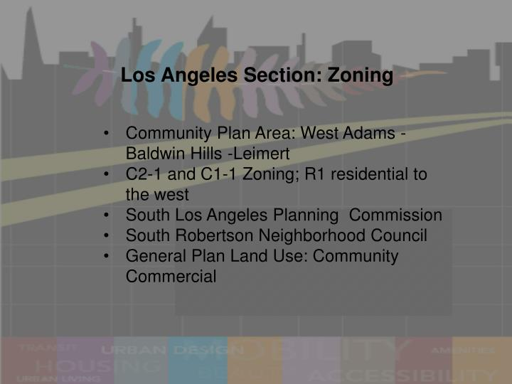 Los Angeles Section: Zoning