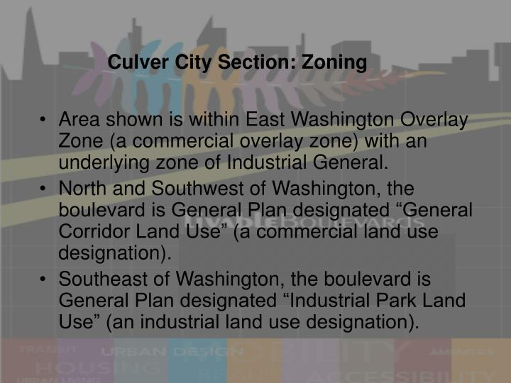Culver City Section: Zoning