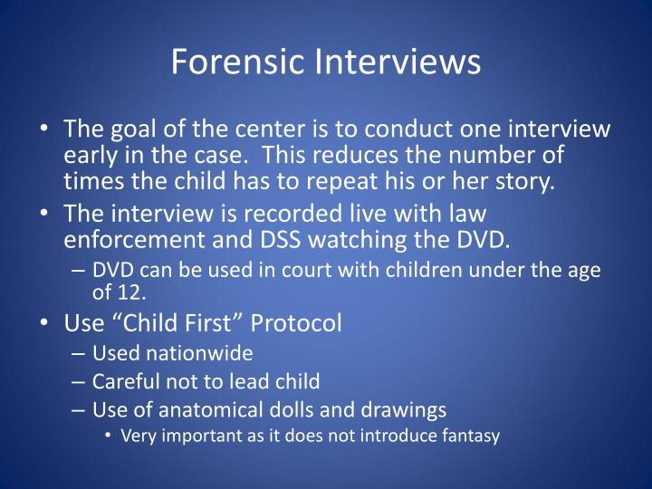 Forensic Interviews