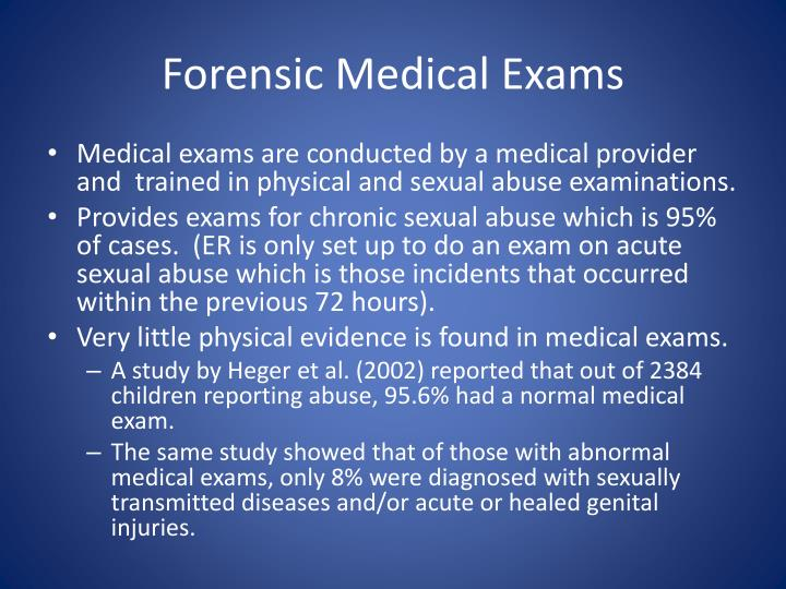 Forensic Medical Exams