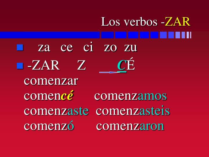 Los verbos -