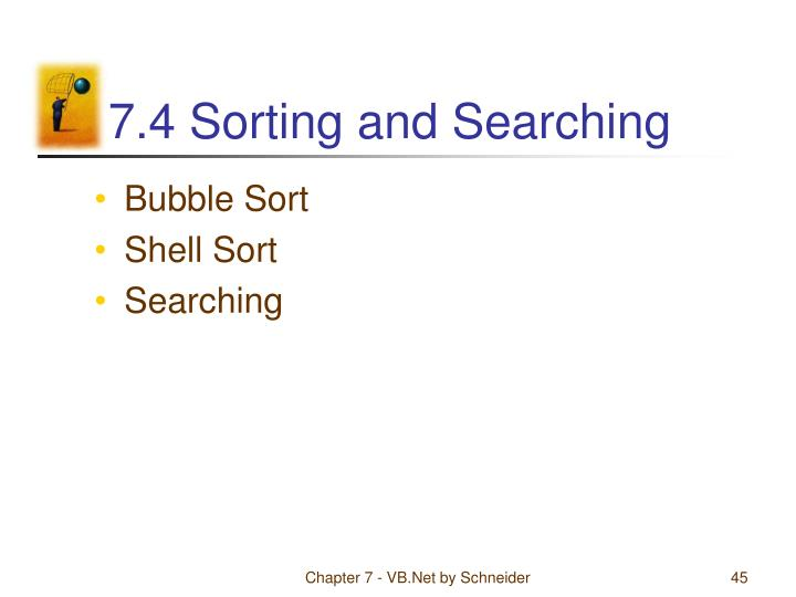 7.4 Sorting and Searching