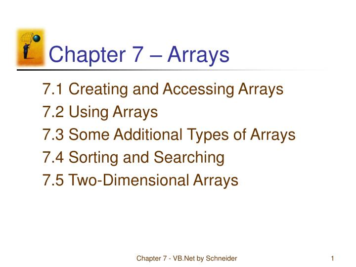 Chapter 7 arrays