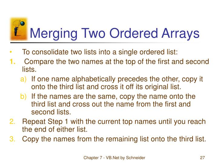 Merging Two Ordered Arrays