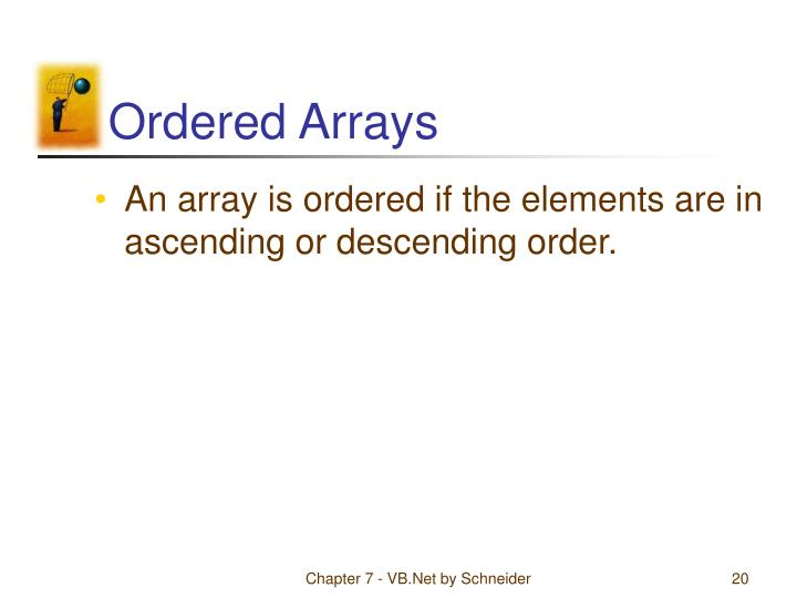 Ordered Arrays