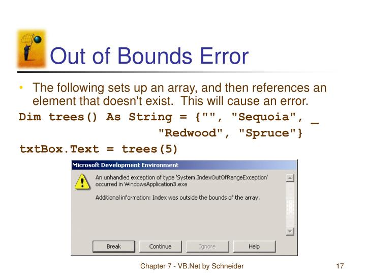 Out of Bounds Error