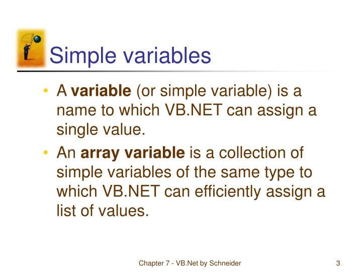 Simple variables