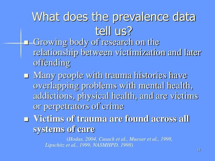 What does the prevalence data tell us?