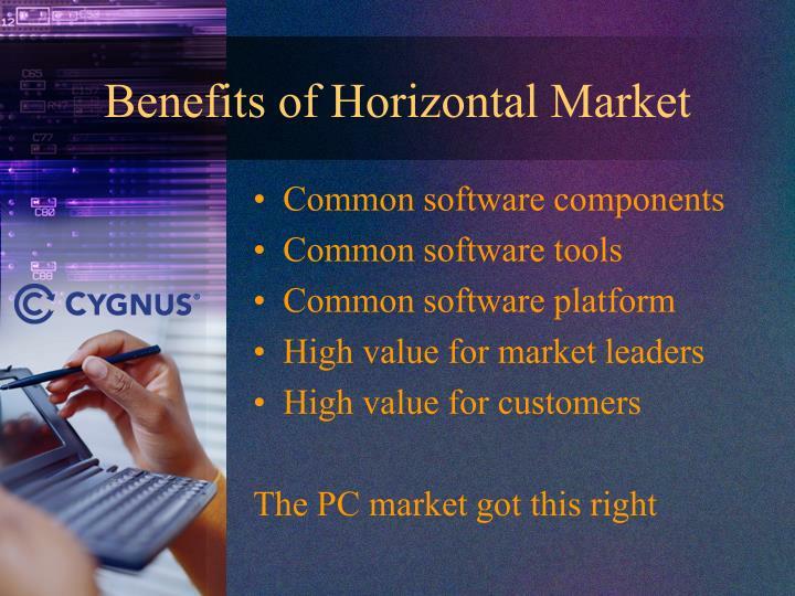 Benefits of Horizontal Market
