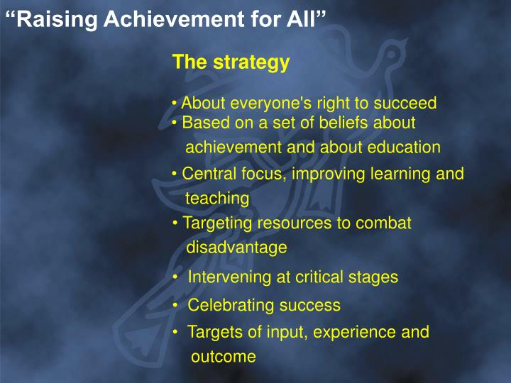 """Raising Achievement for All"""