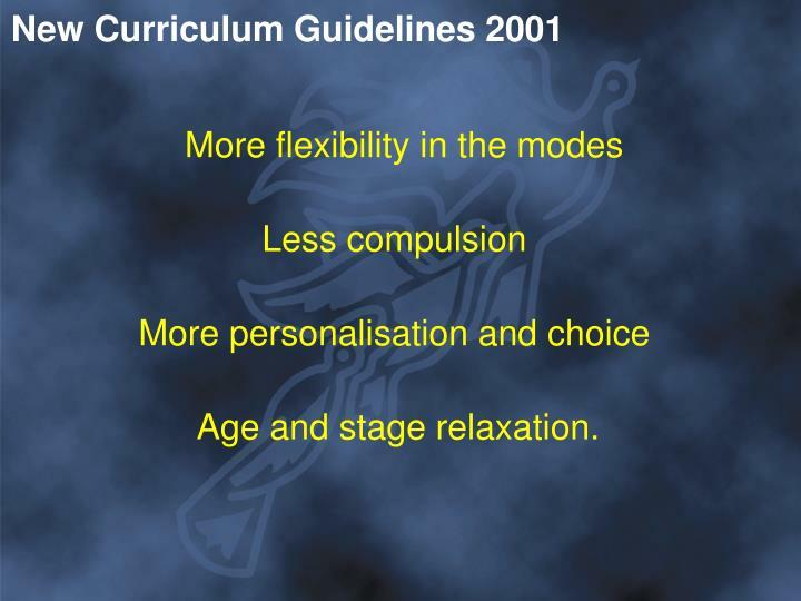 New Curriculum Guidelines 2001