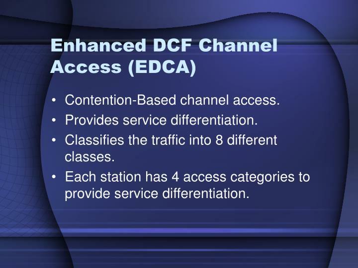 Enhanced DCF Channel Access (EDCA)