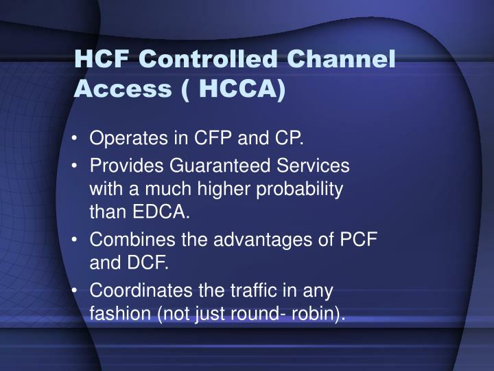 HCF Controlled Channel Access ( HCCA)