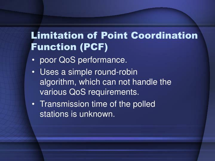 Limitation of Point Coordination Function (PCF)