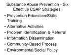 substance abuse prevention six effective csap strategies