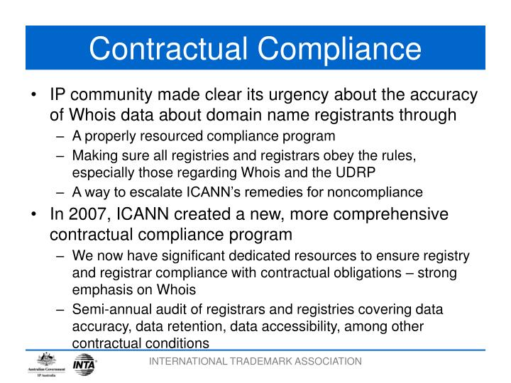 Contractual Compliance
