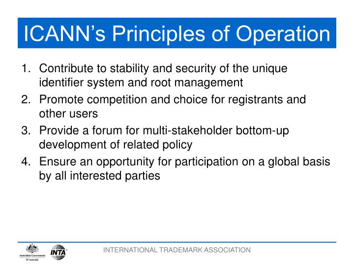 ICANN's Principles of Operation