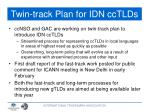 twin track plan for idn cctlds