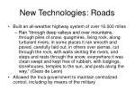 new technologies roads