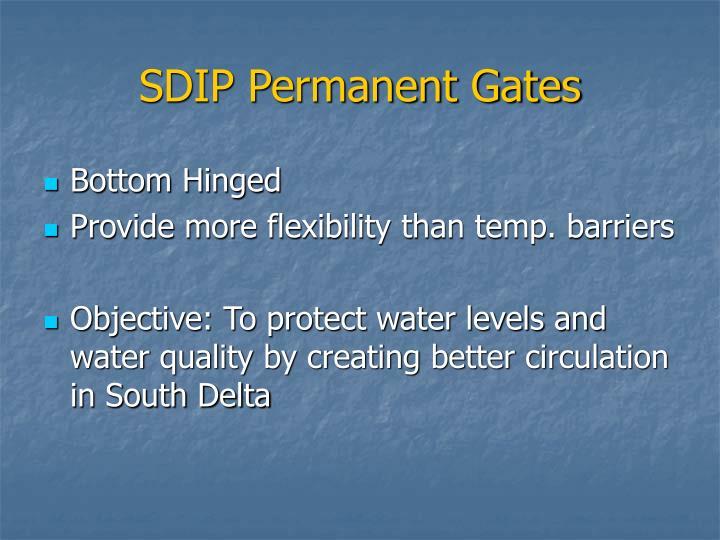 SDIP Permanent Gates