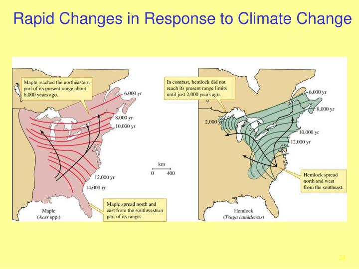 Rapid Changes in Response to Climate Change