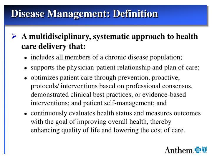 Disease Management: Definition