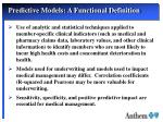 predictive models a functional definition