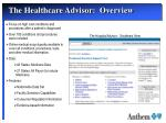 the healthcare advisor overview