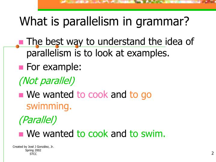 What is parallelism in grammar