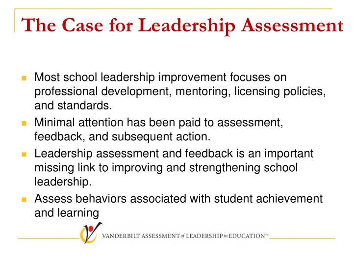The Case for Leadership Assessment