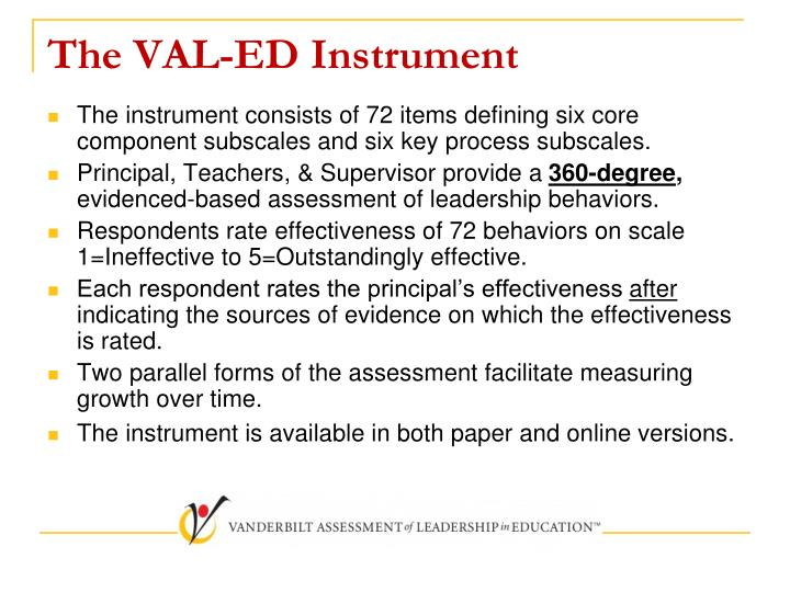 The VAL-ED Instrument