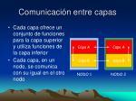 comunicaci n entre capas
