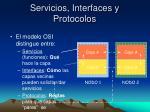 servicios interfaces y protocolos