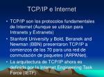 tcp ip e internet