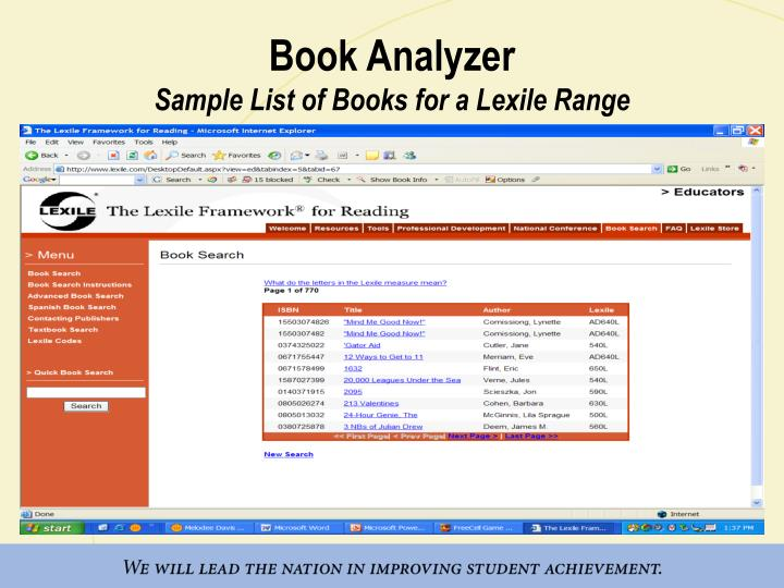 Book Analyzer