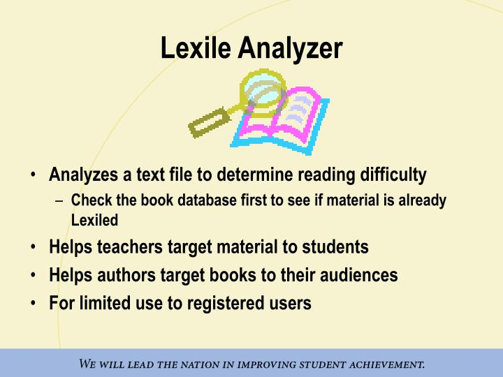 Lexile Analyzer