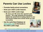 parents can use lexiles