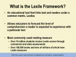 what is the lexile framework1