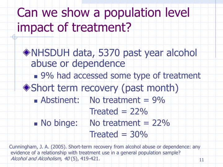 Can we show a population level impact of treatment?