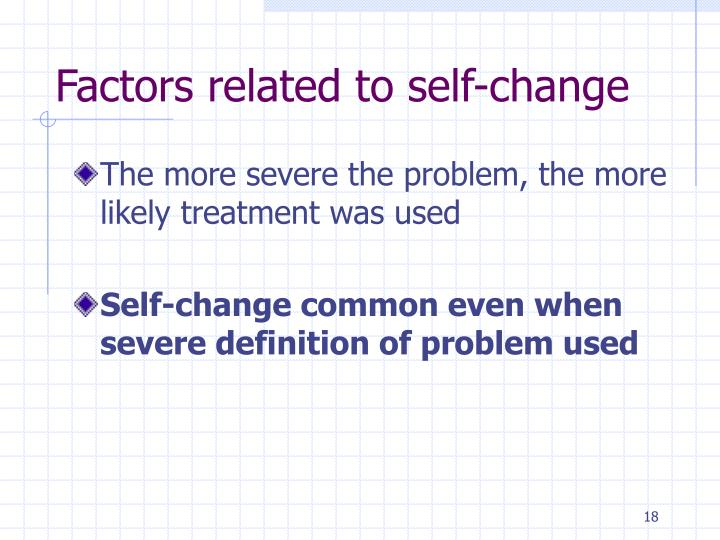 Factors related to self-change