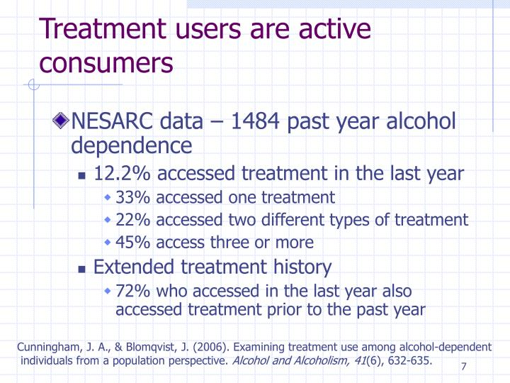Treatment users are active consumers