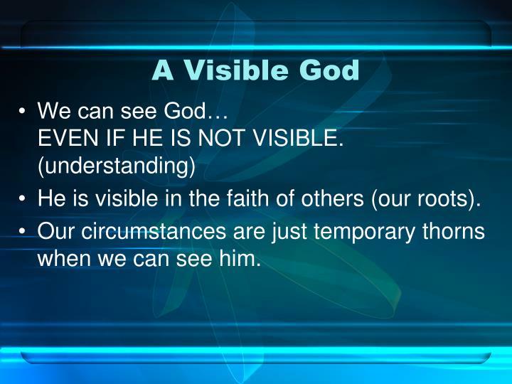 A Visible God