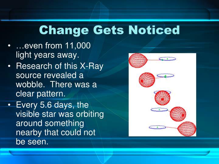 Change Gets Noticed