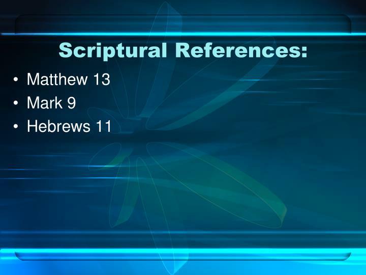 Scriptural References: