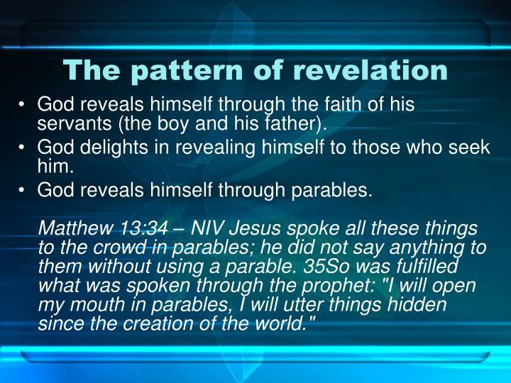 The pattern of revelation