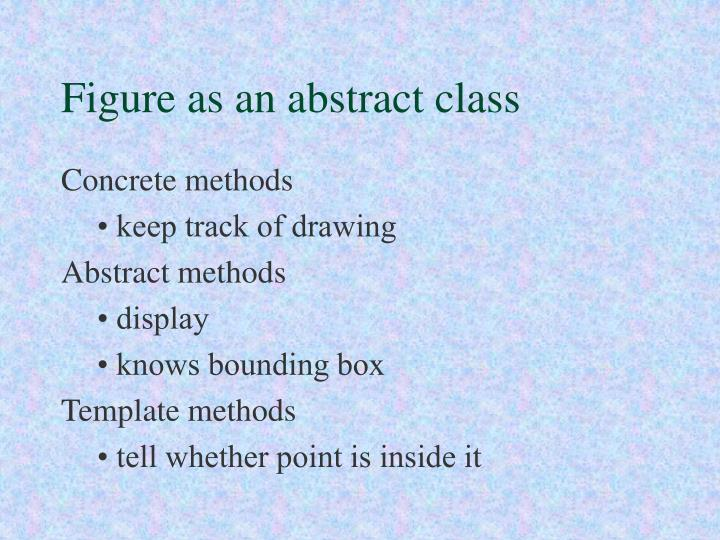 Figure as an abstract class
