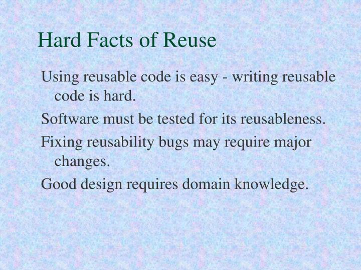 Hard Facts of Reuse